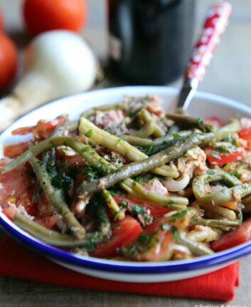 Salade de haricots verts, tomates et thon