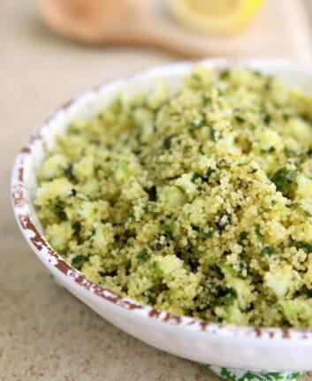 Salade de semoule au concombre et menthe