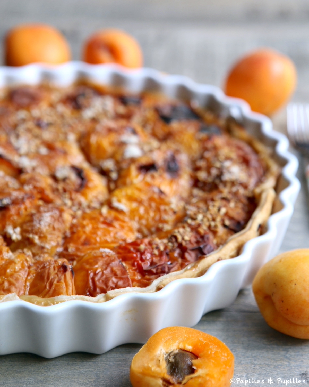 Tarte abricots pralin