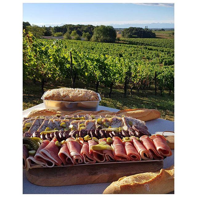 Le petit déjeuner vigneron  c'est la vie