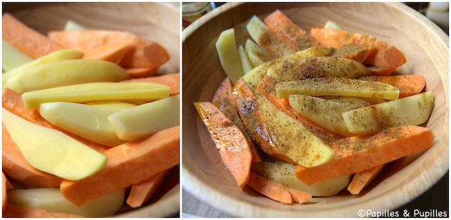 Bâtonnets de pommes de terre et patates douces
