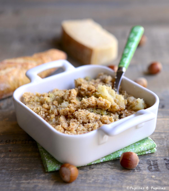 Crumble aux choux Parmesan Noisettes