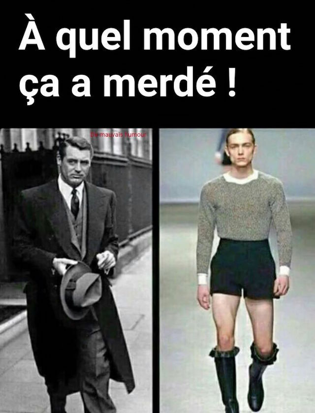 Evolution de la mode. De Cary Grand à nos jours