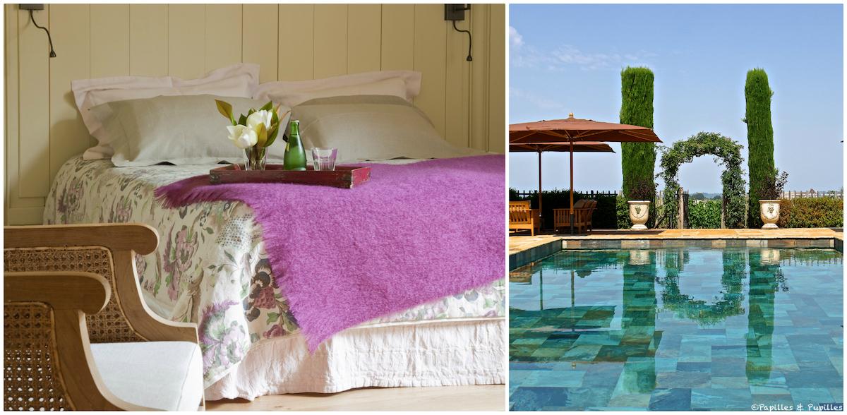 Chambre et piscine - Troplong Mondot