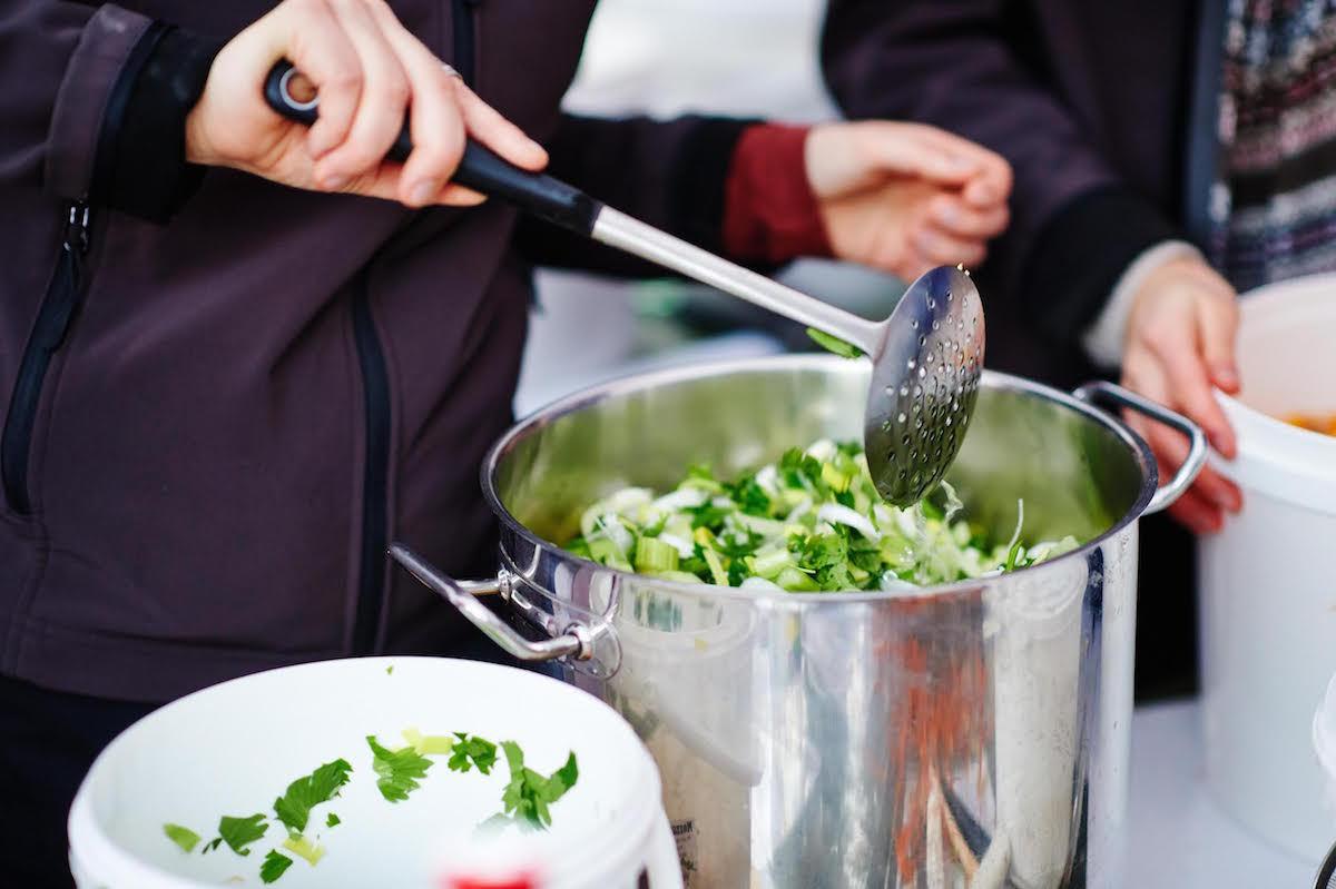 Préparation de la soupe