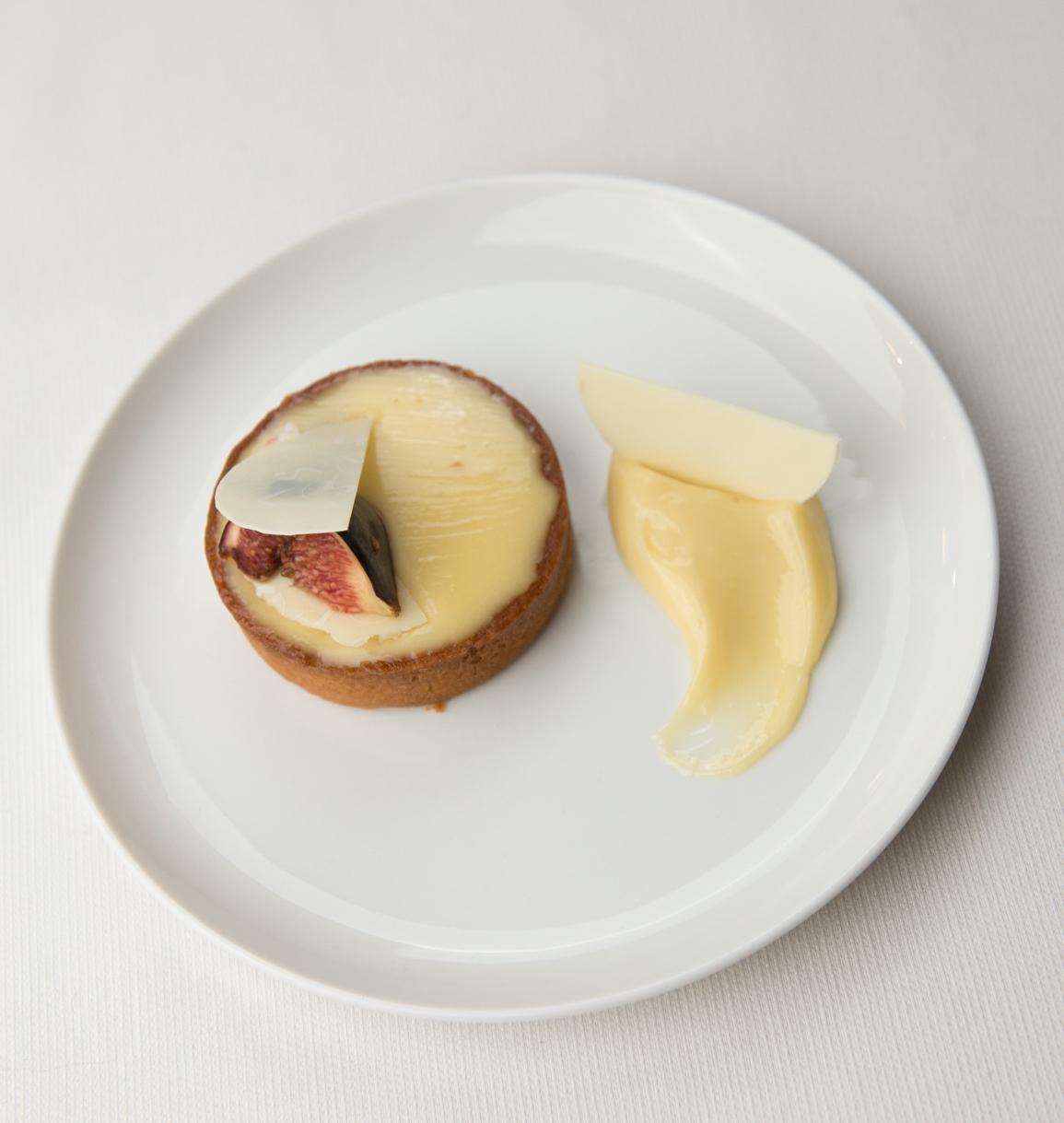 Tarte aux figues, creme citron huile d'olive - Sylvain Depuichaffray