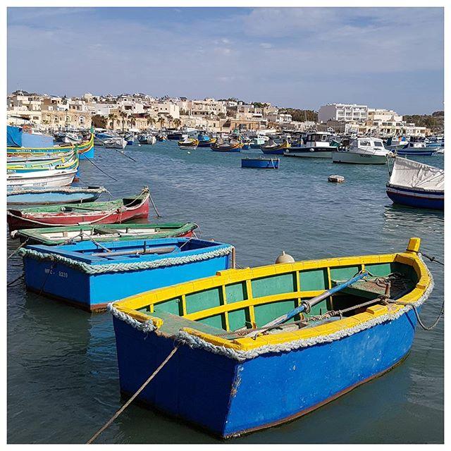 Le port de Marsaxlokk, Malte