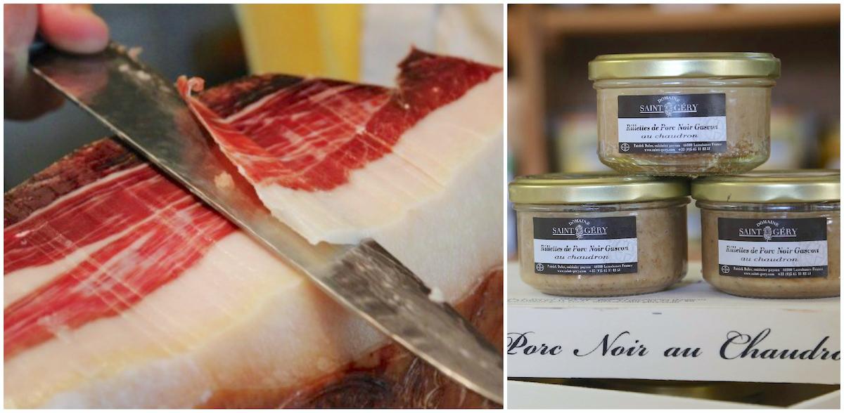 Jambon noir de porc de Bigorre et rillettes au chaudron de Patrick Duler