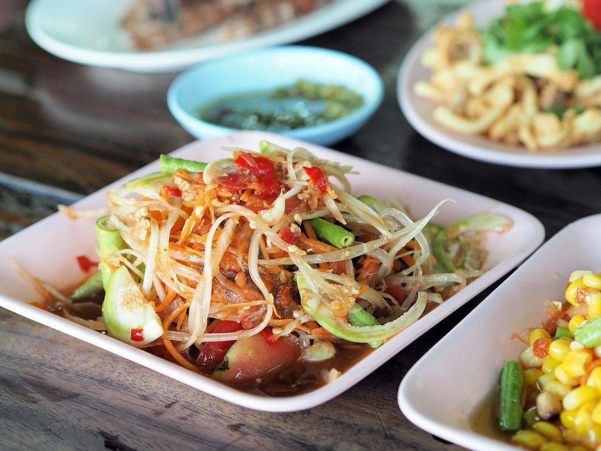 Salade de papaye thaï