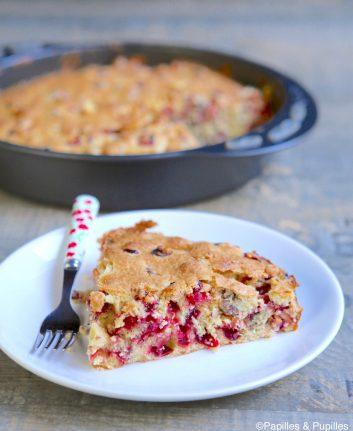 Gâteau aux cranberries et aux noix de pécan
