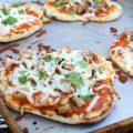 Naan pizza poulet grillé Tikka Masala