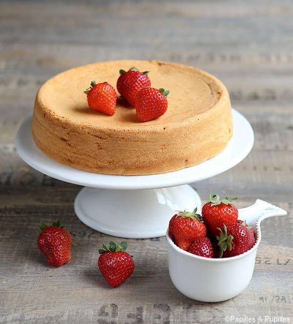 Gâteau de Savoie et fraises
