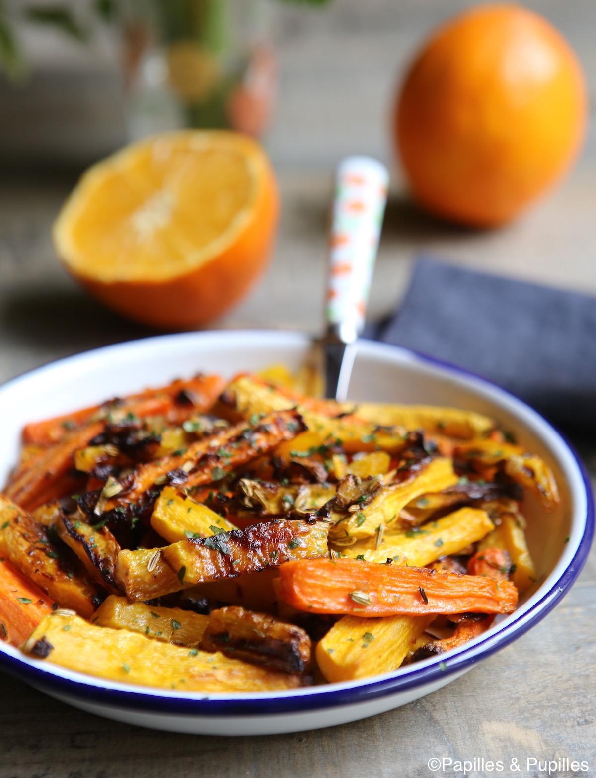 Salade de carottes fenouil et jus d'orange