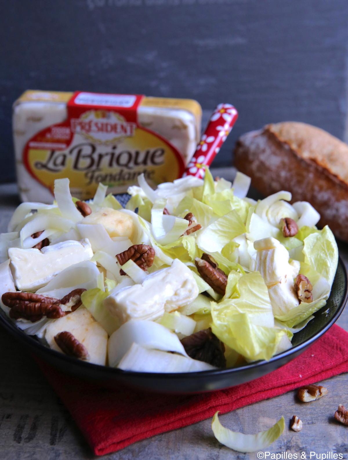 Salade d'endives et brique fondante