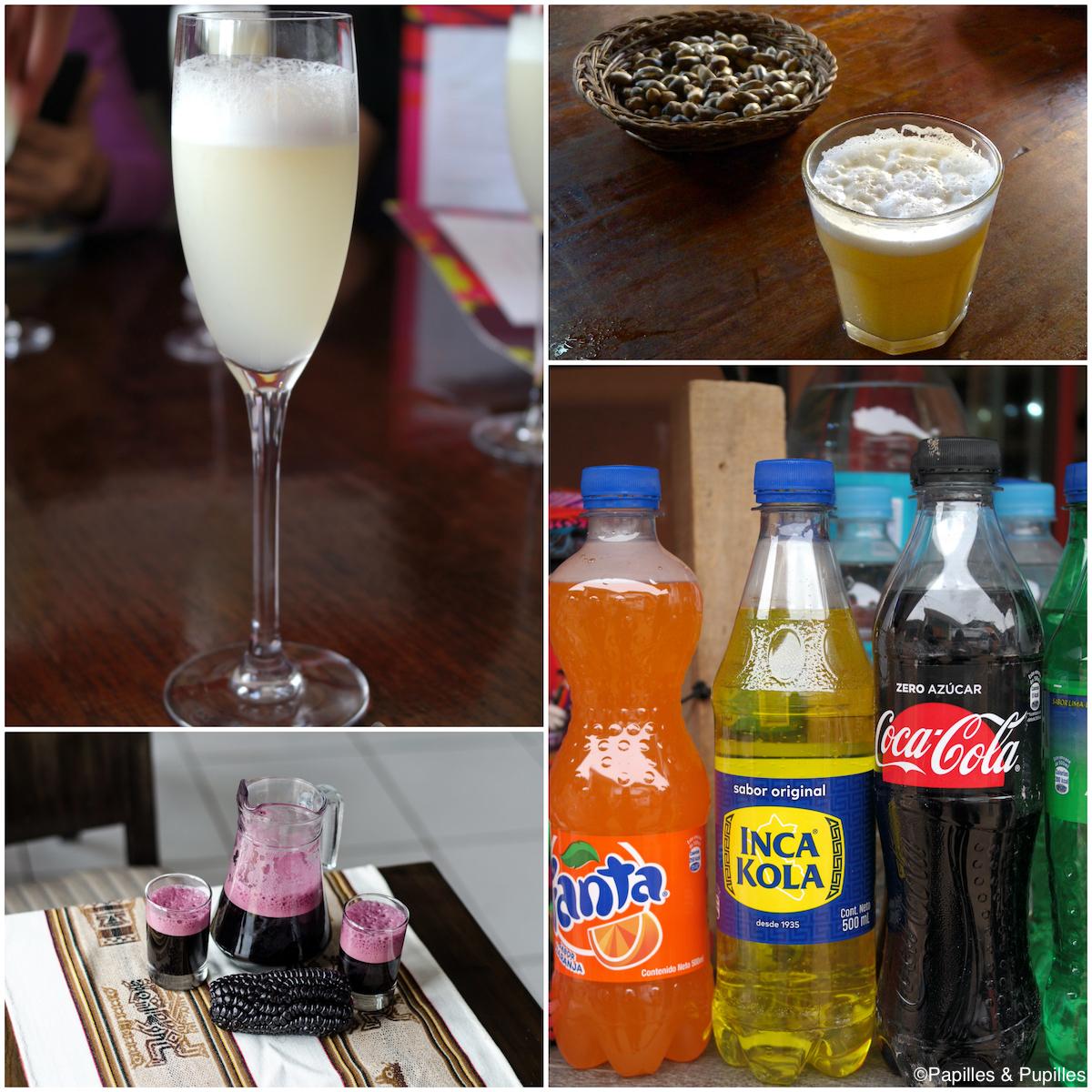 Pisco, Chicha, Chicha Morada et Inka Cola