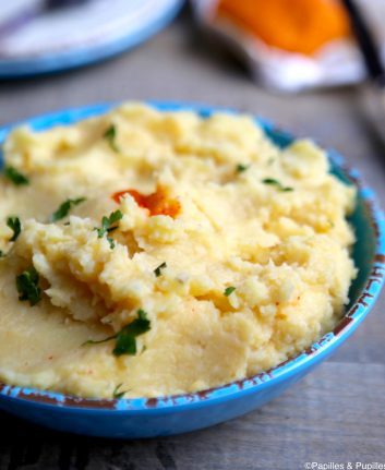 Purée de pommes de terre et céleri rave au piment d'Espelette