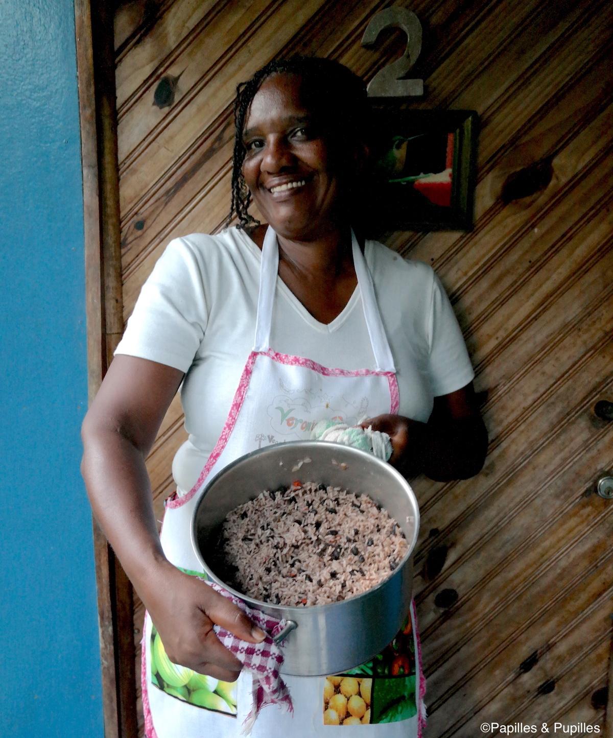 Riz aux haricots et au lait de coco chez Veronica
