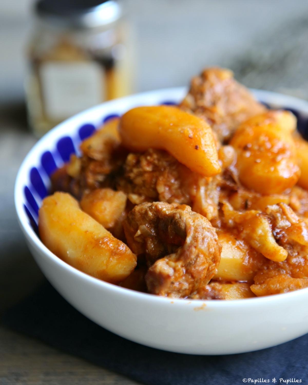 Sauté de veau aux pommes de terre, épices douces et citron confit