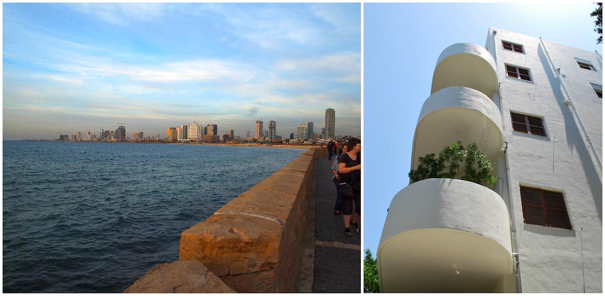 Vue sur Tel Aviv depuis Jaffa et architecture BauHaus
