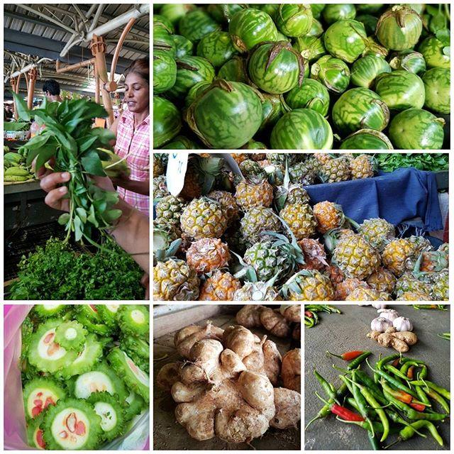 Au marché de Flacq, île Maurice.