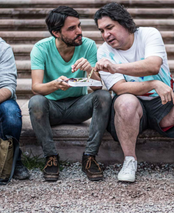 Au centre Virgilio Martinez et Gastón Acurio