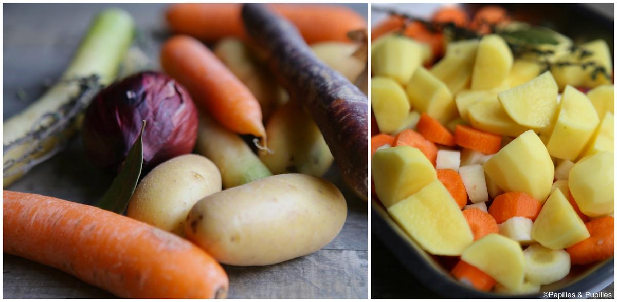 Légumes pour la recette
