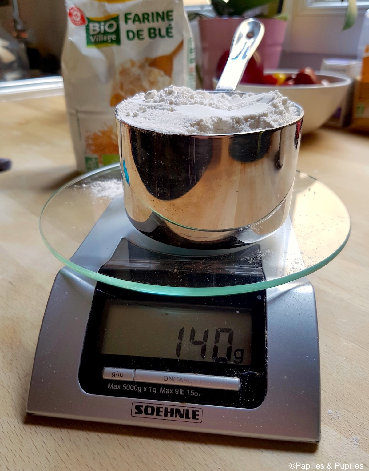 Poids d'une tasse de farine