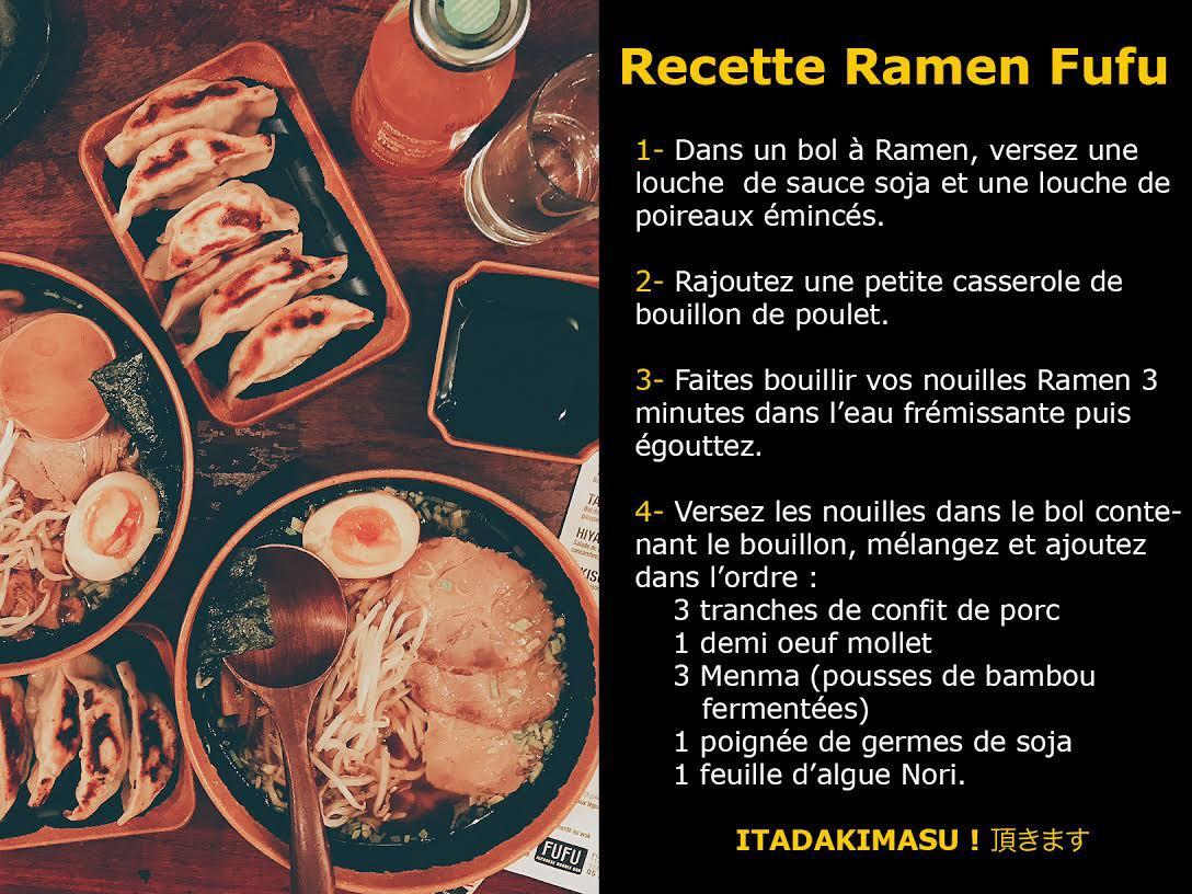 Recette Ramen Fufu