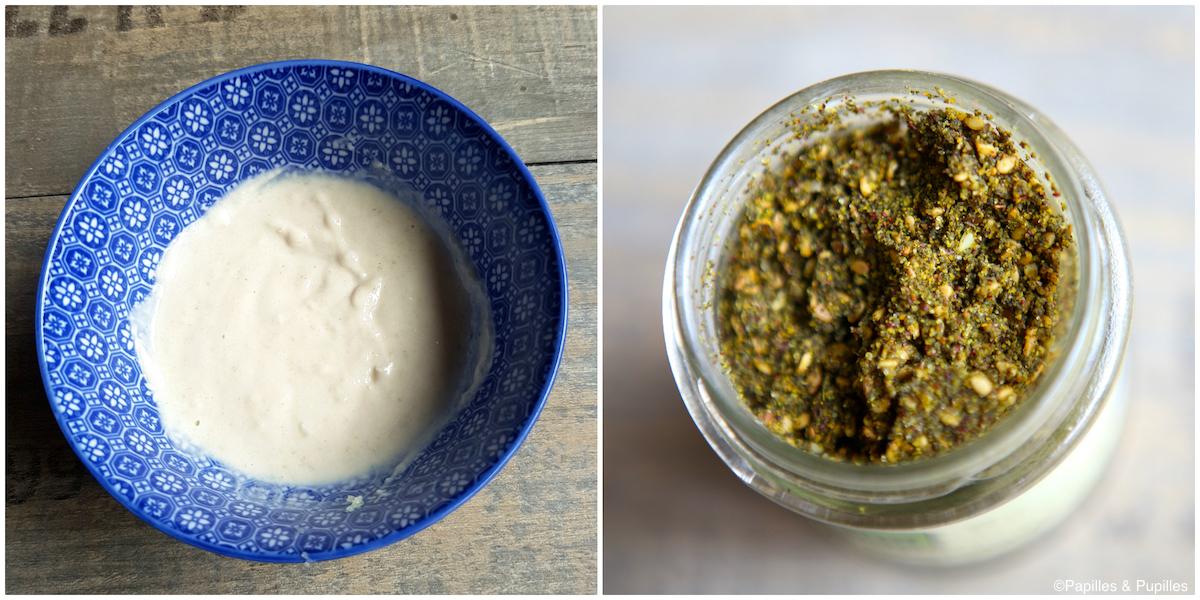 Sauce blanche et Zaatar