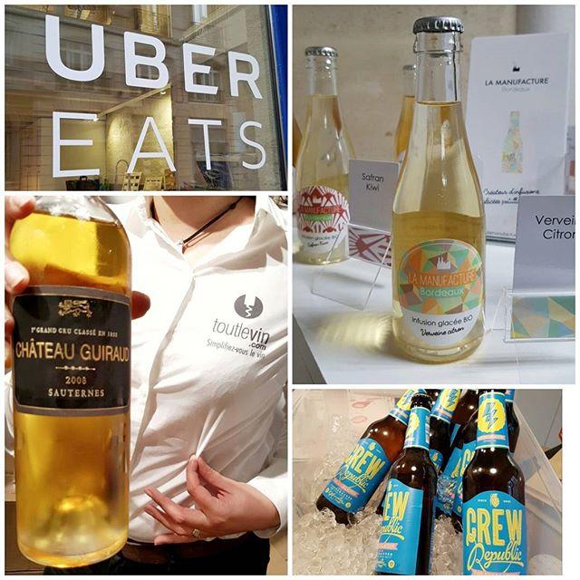 Aux soirées #ubereatsBordeaux on mange ET on boit ;).
