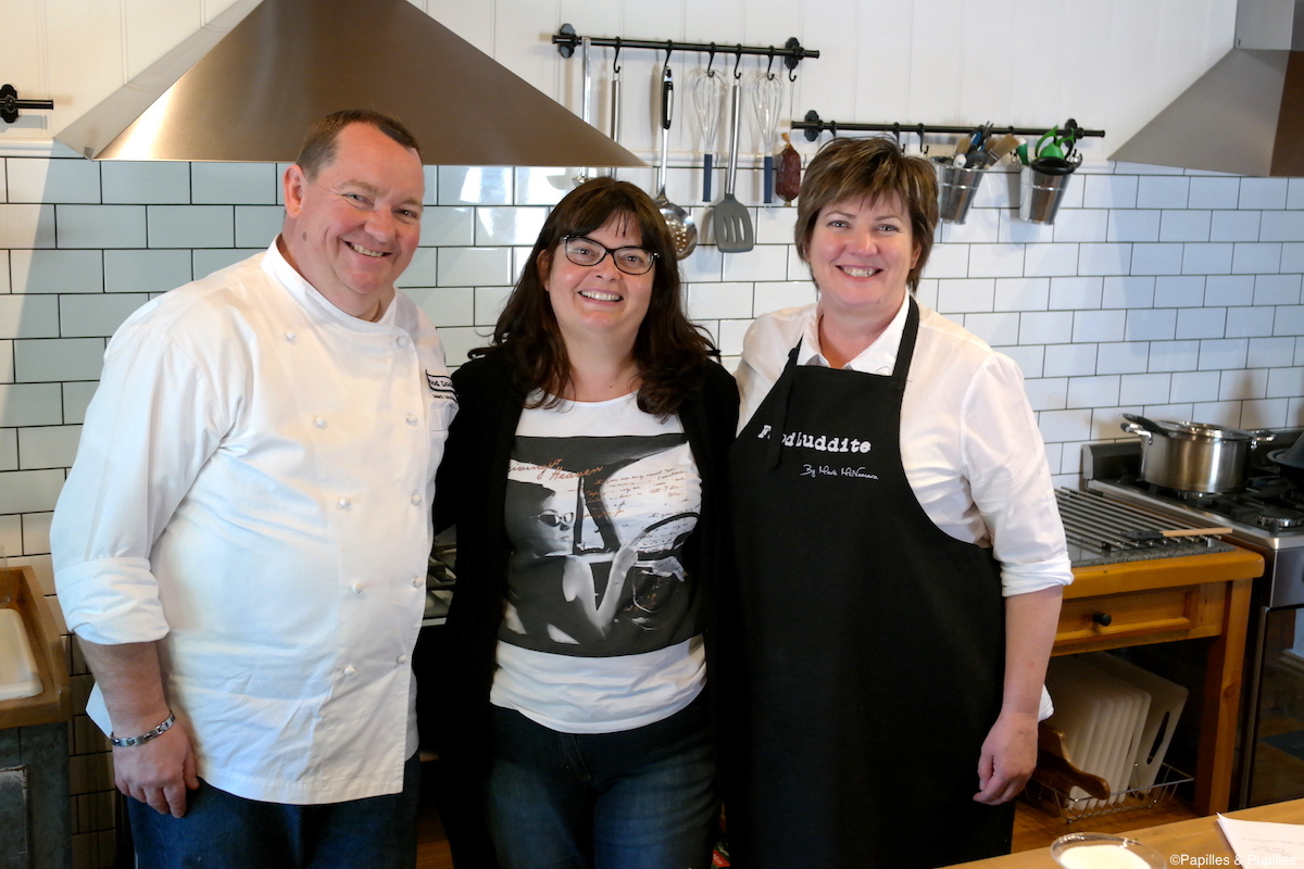 Avec Mark McNamara et son épouse Food Luddite