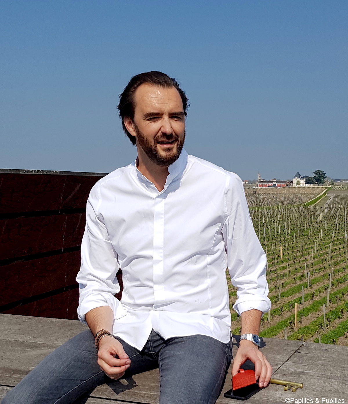 Cyril Lignac - Terrasse rouge - Saint Emilion