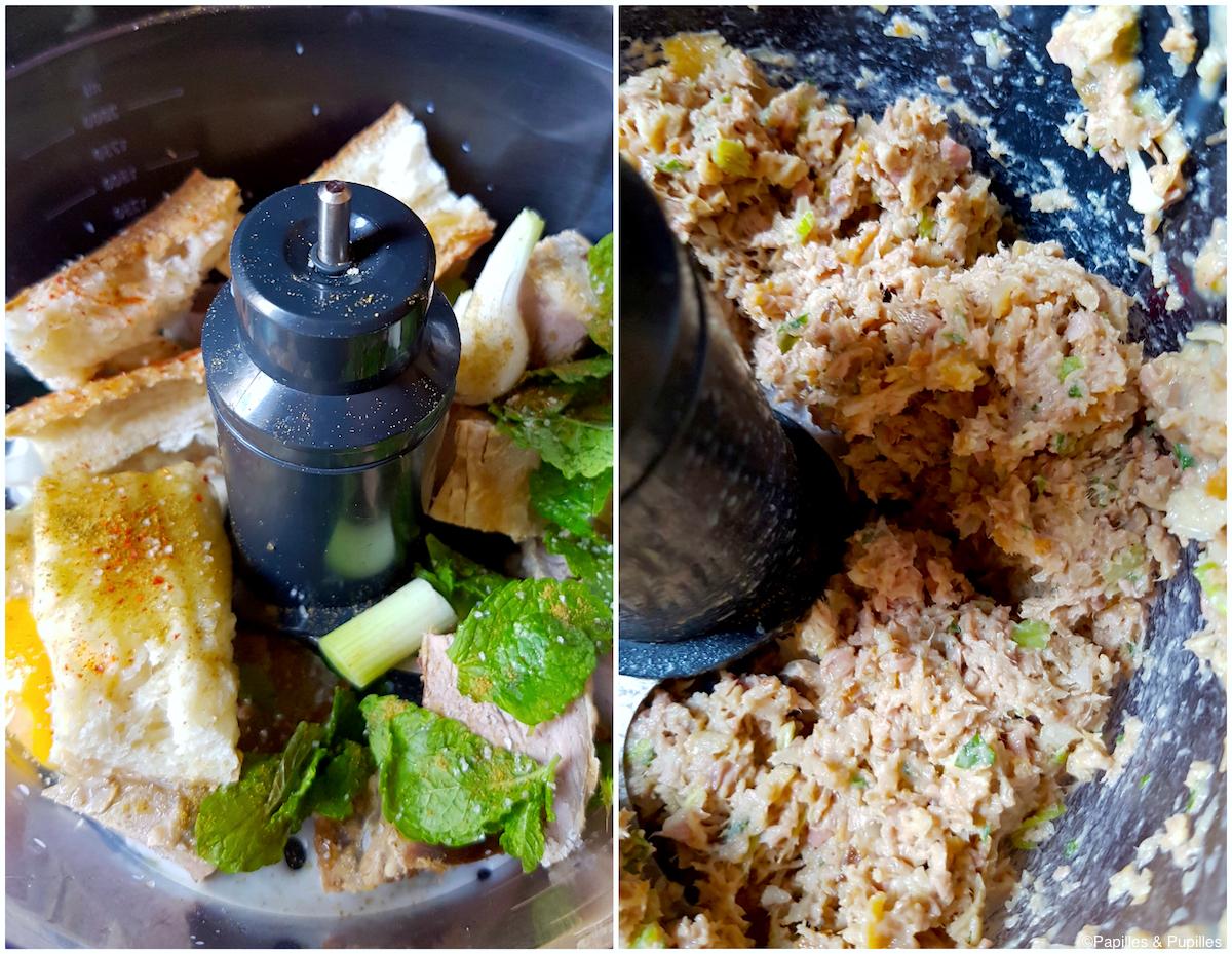 Préparation des boulettes