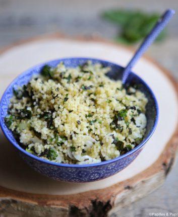 Semoule de couscous aux herbes