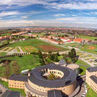 Université Laboral - Vue aérienne