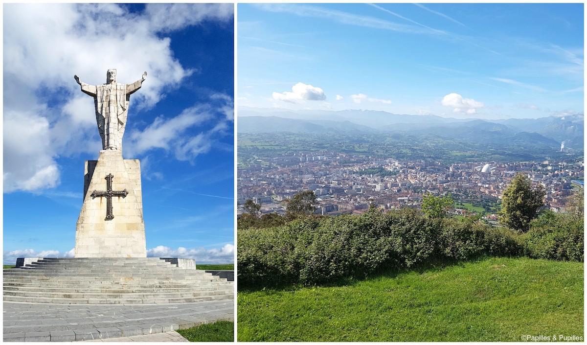 Le Christ du Naranco et la vue sur Oviedo