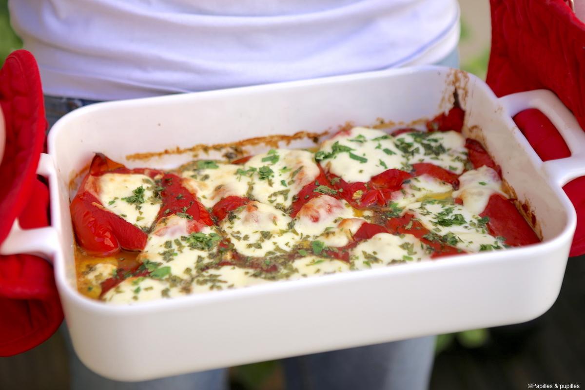 Gratins De Poivrons A La Mozzarella