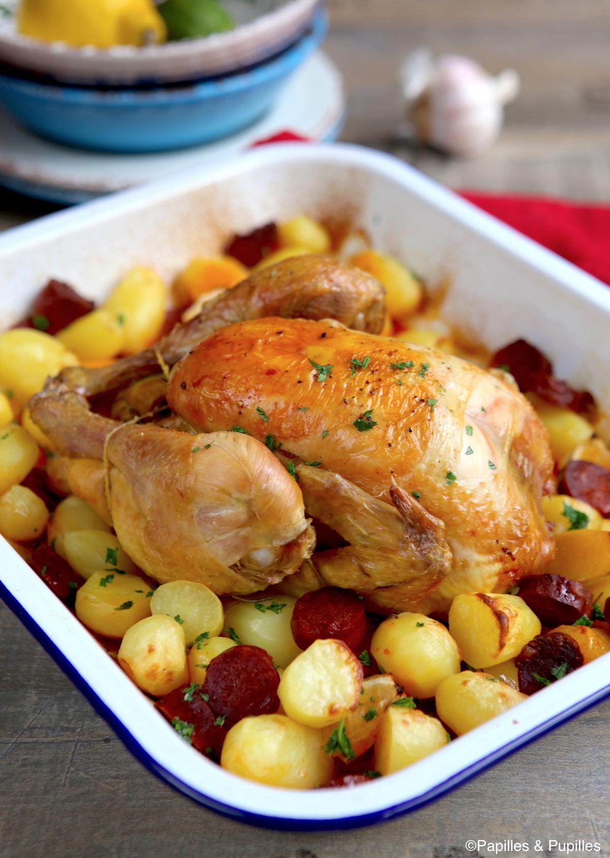 Poulet aux pommes de terre et chorizo