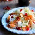 Cucumber and smoked truit salad