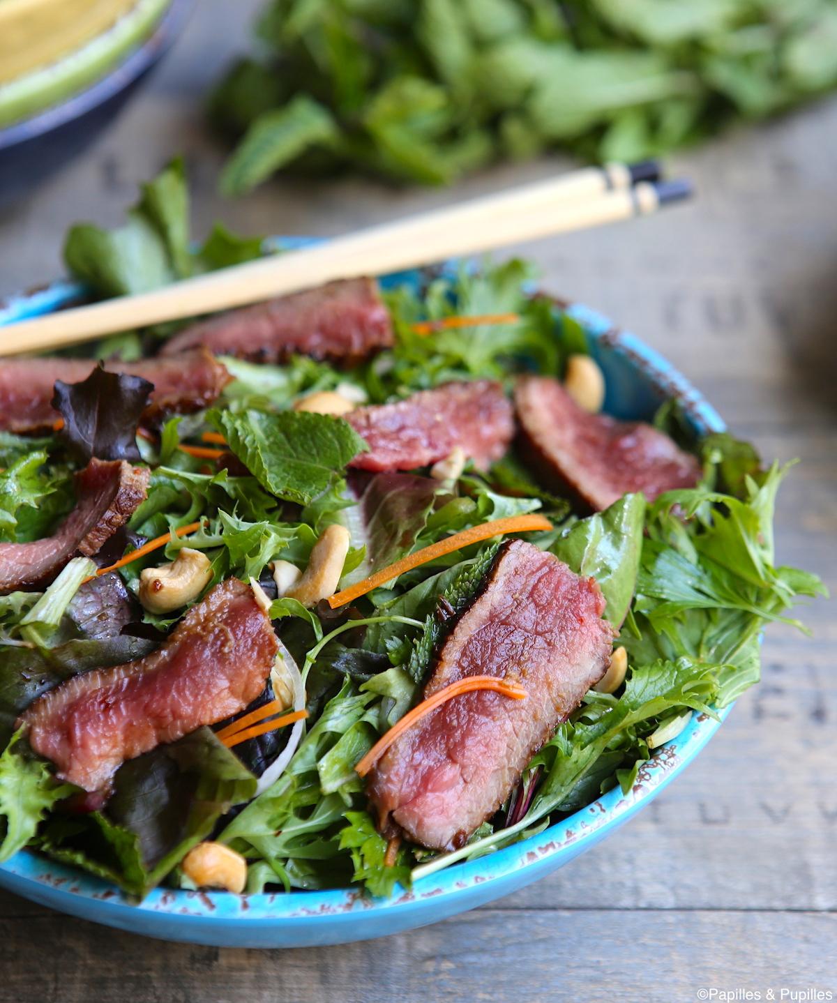 Salade de boeuf mariné à l asiatique