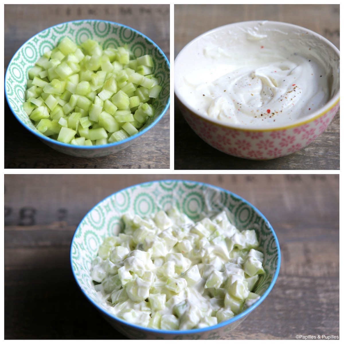 Concombre au fromage à la crème