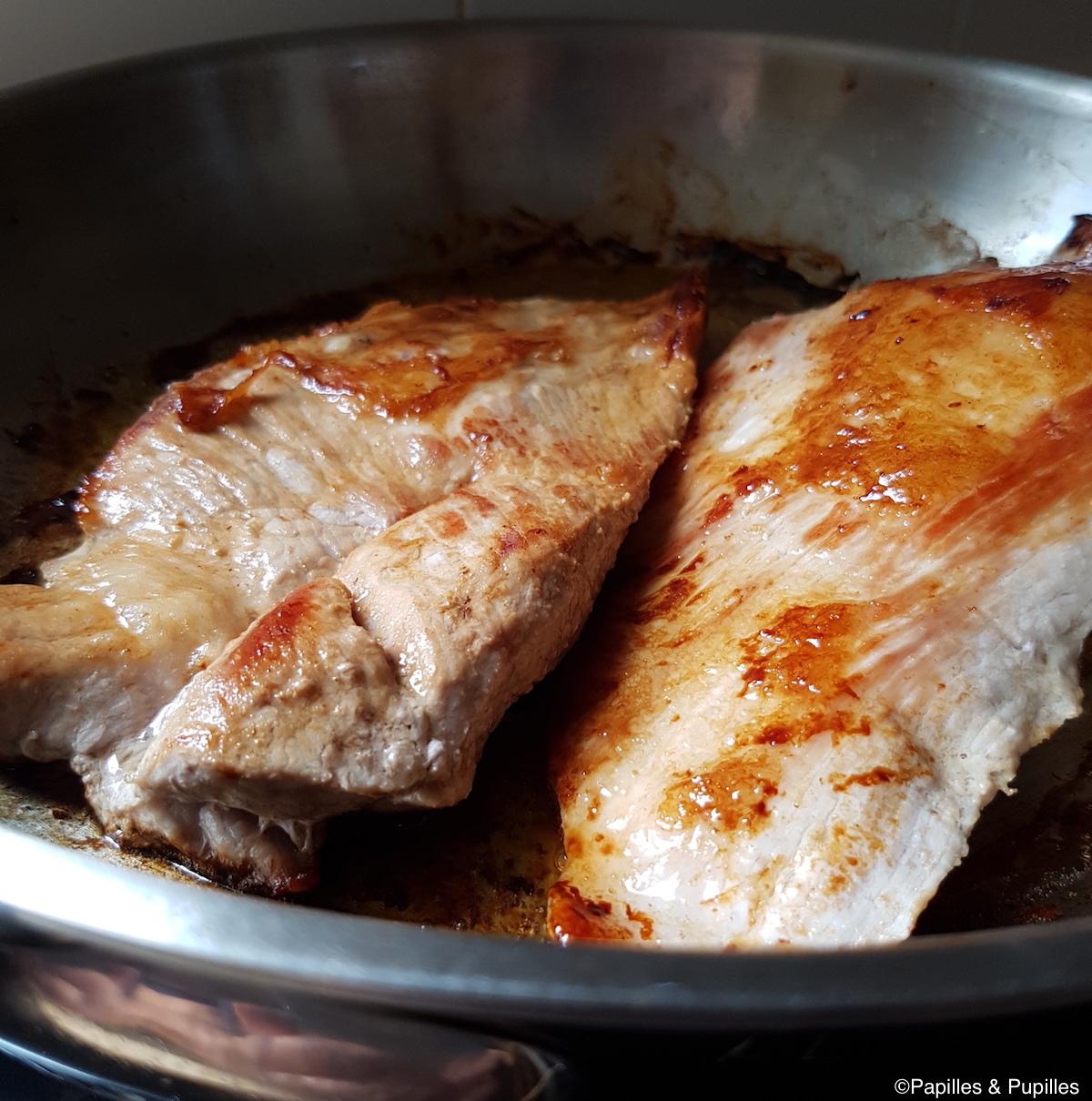 Levure de porc grillée à la poêle