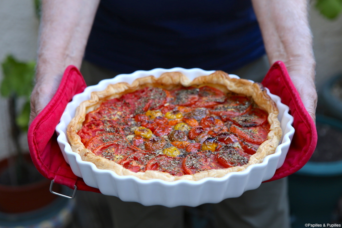 Tarte aux tomates et mascarpone