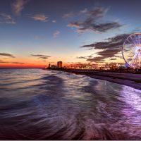 Myrtle Beach - La grande roue et le bord de mer