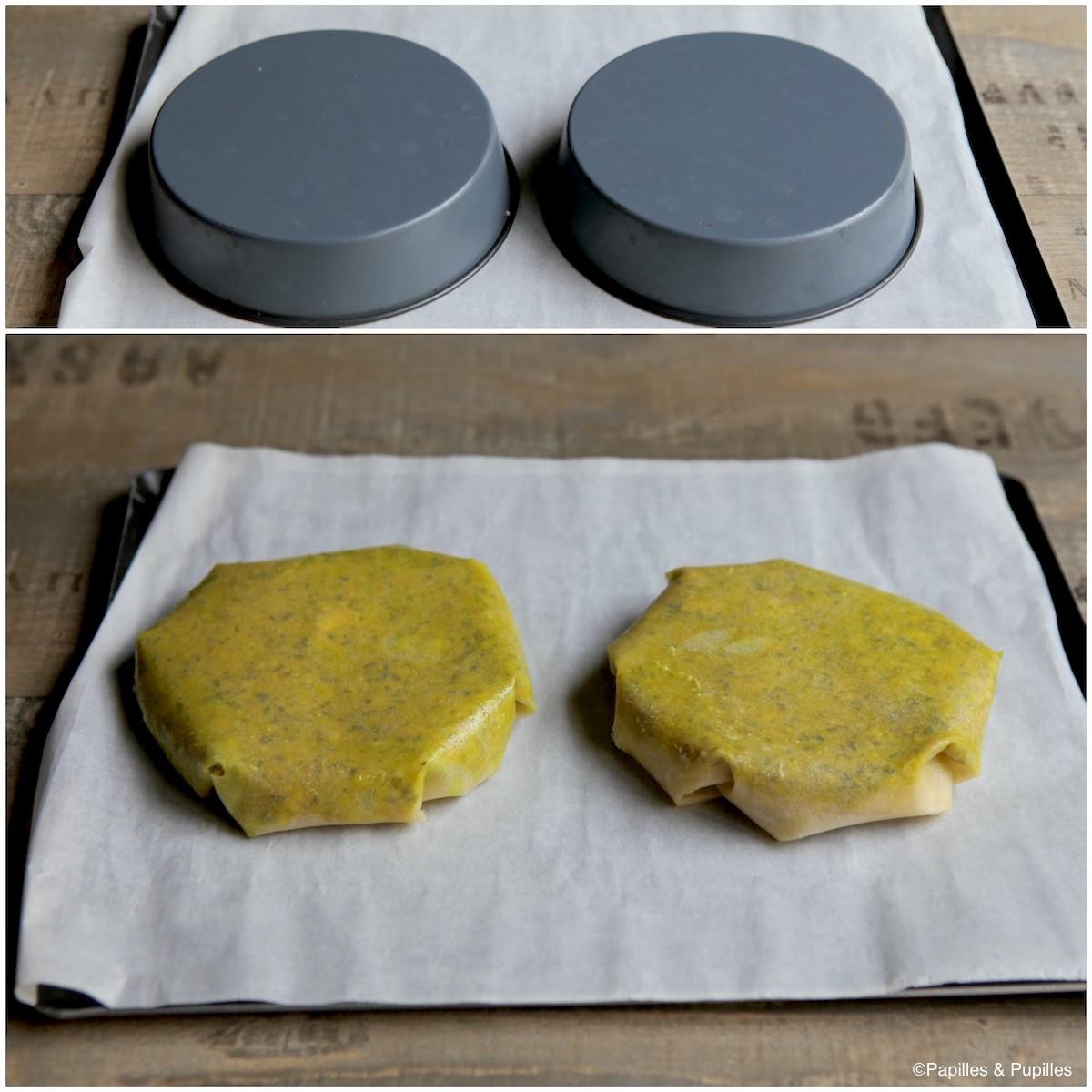 Pastilla - Retournez sur une plaque de cuisson