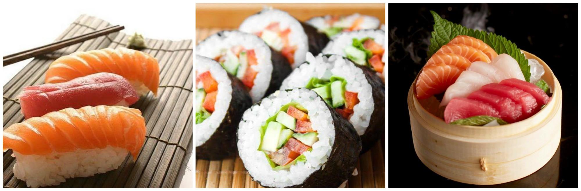 Sushis makis et sashimi