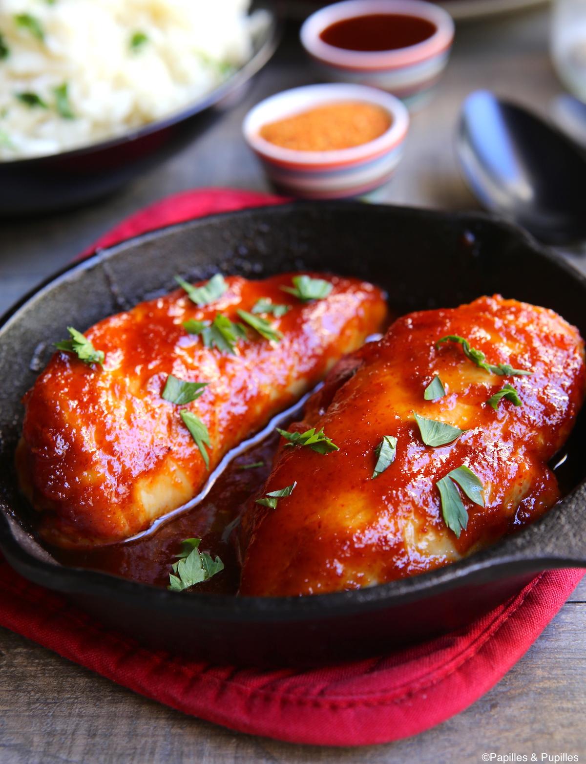 Escalopes de poulet sauce piquante