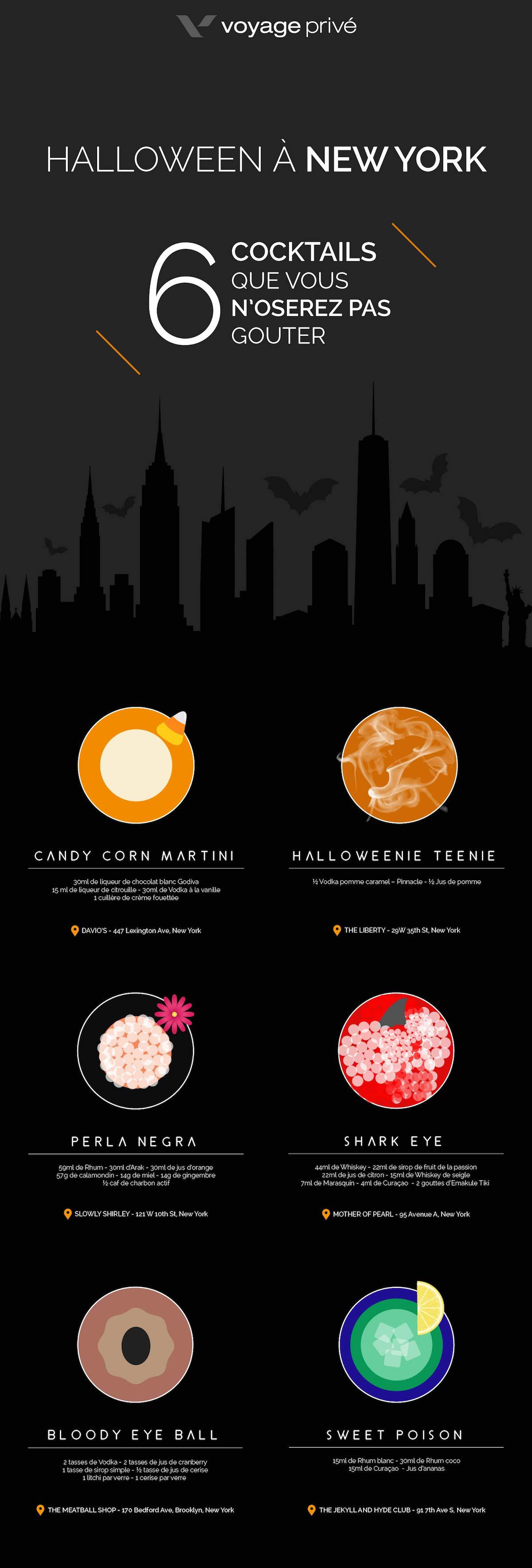 6 cocktails pour Halloween - New York