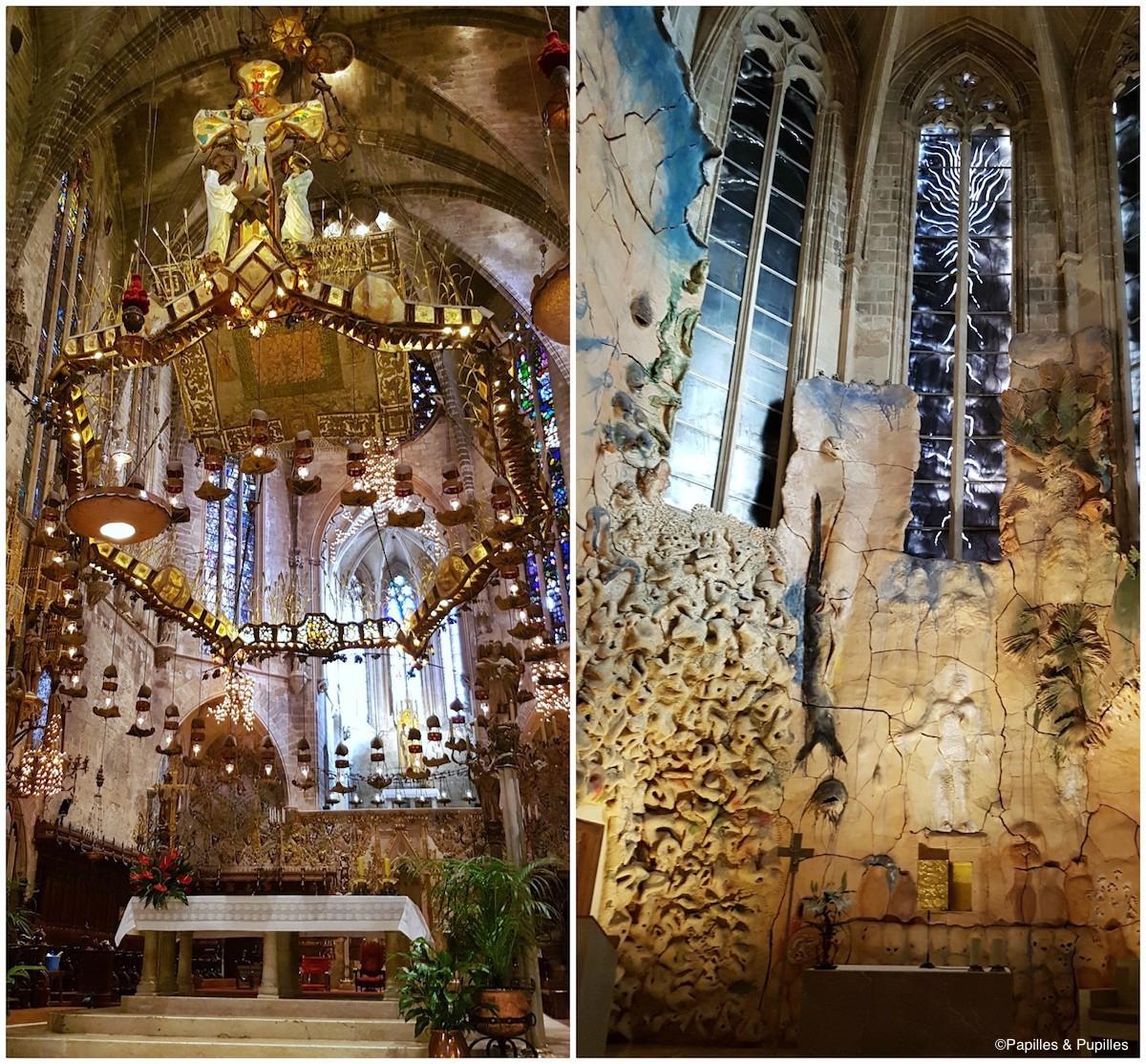 Intérieur de la Cathédrale (à gauche Gaudi, à droite, Barcelo)
