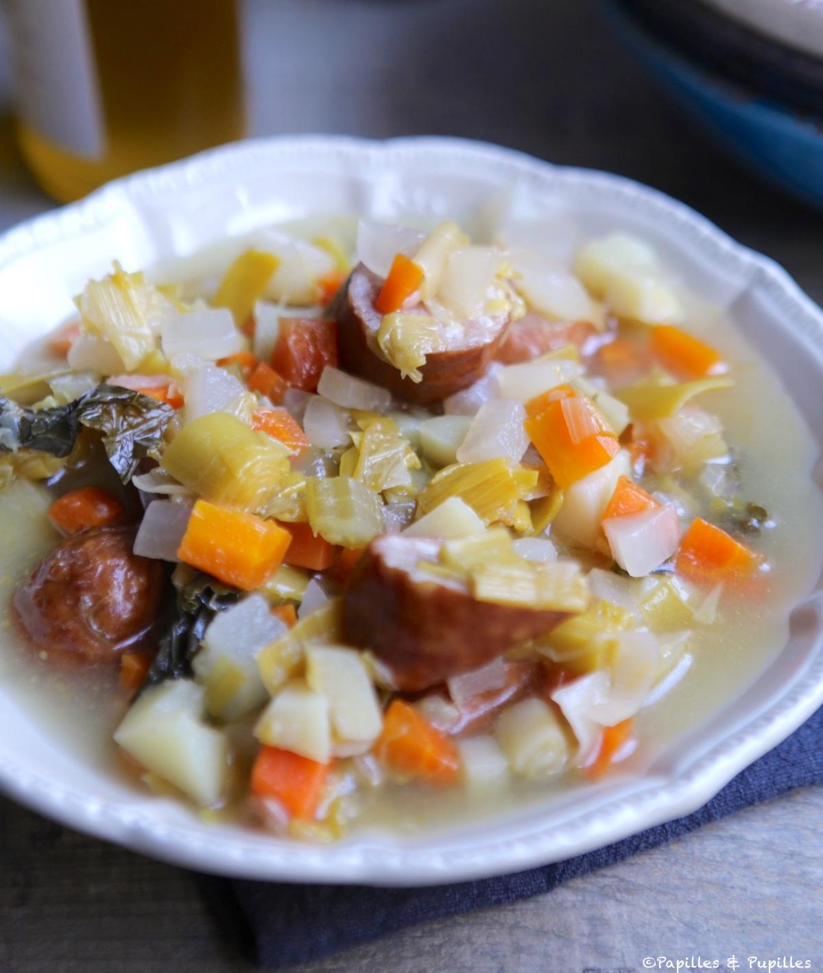 Soupe à la saucisse de Montbéliard